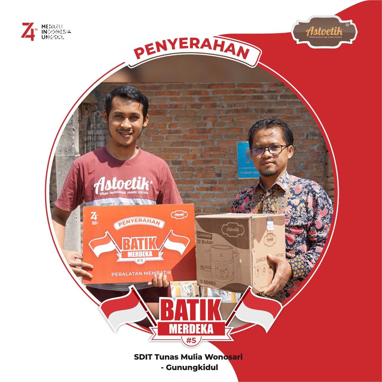 Penyerahan dan Respon Pemenang Program Batik Merdeka #5 Astoetik tahun 2019